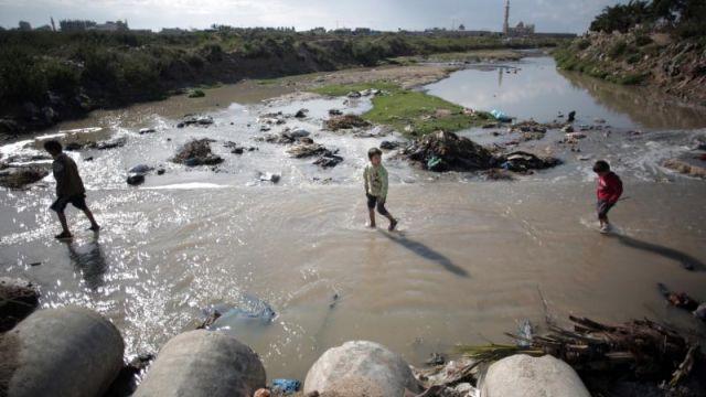 izraelinfo gaza szennyezett vize